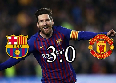Barcelona left no chance to Manchester United at the Nou camp